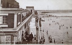 Bathing pool Headland Hartlepool circa It was swept away by the tidal surge of Bishop Auckland, Sunderland, Durham, Old Pictures, Seaside, Bathing, The Past, Places To Visit, England