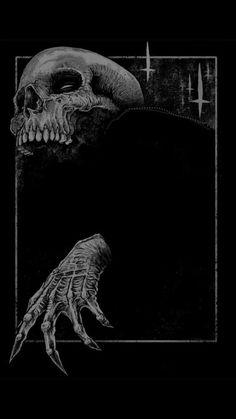 The Art of Godmachine - Creep print Fantasy Kunst, Dark Fantasy Art, Kunst Inspo, Art Inspo, Arte Horror, Horror Art, Art And Illustration, Totenkopf Tattoos, Satanic Art