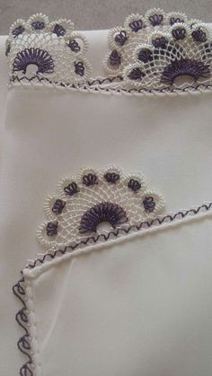 Needle Lace The moment Ifirst laid eyes on oya needlework was not as profound as one might imagine. Crochet Lace Edging, Crochet Motifs, Crochet Borders, Knit Crochet, Silk Ribbon Embroidery, Hand Embroidery, Tatting, Knitting Patterns, Crochet Patterns