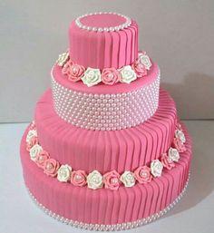 66 Ideas Cupcakes Fondant Birthday Pink For 2019 Fondant Cupcakes, Cupcake Cookies, Birthday Cake Girls, Birthday Cupcakes, Pretty Cakes, Beautiful Cakes, Celebration Cakes, Birthday Celebration, Bolo Fake Eva