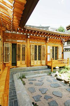 Outside view of Mangyeongjae, a hanok in Bukchon, Seoul, Korea