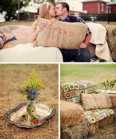 Cute hay seating
