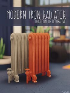 MODERN IRON RADIATOR – by amoebae Two versions of the radiator that came with Vampires: one with the fancy design removed in all the original colours; one with the fancy design removed in 55 Copicish colours. SEASONS UPDATE Thanks to the… Sims 4 Cc Packs, Sims 4 Mm Cc, Sims Four, Sims 4 Mods Clothes, Sims 4 Clothing, Maxis, Muebles Sims 4 Cc, Sims 4 Clutter, Sims 4 Gameplay
