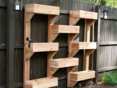 Here's a project for those of you who are thinking of building a vertical garden! DIY Vertical Wooden Box Planter Click on any image to star...