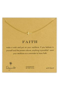 Dogeared 'Reminder - Faith' Pendant Necklace | Nordstrom #pinittowinit