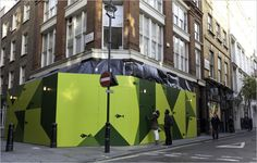 While this London's resto takes shape passers by are invited to go fishing, with the help of QR Codes. Black fish have been stuck on the hoarding, each bearing their own QR code and passers by are encouraged to 'fish' for free. Every code reveals a different message