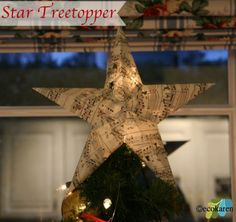 How to Make a Star Tree Topper - ecokaren