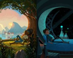 Congrats to #ITP2013 winner Double Fine's Nathan Stapley! Check out the piece, 'Broken Age' #BrokenAge #Gaming #Art