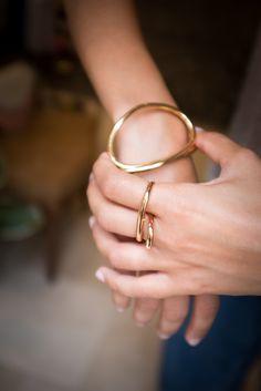 Charlotte Chesnais Heart ring and Looping bracelet.