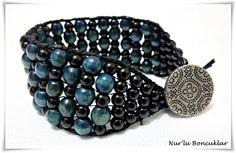 DIY Siyah Yeşil Bileklik / DIY Black Green Bracelet