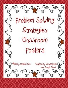 The 11 problem solving strategies are displayed in posters for classroom usage.  The posters are colorful and can be used in any math classroom.  ...