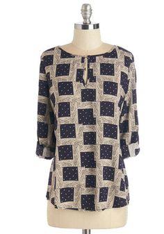 Songwriter's Loft Top   Mod Retro Vintage Short Sleeve Shirts   ModCloth.com my closet