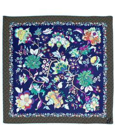 Liberty London Navy Christelle Silk Twill Scarf | Silk Scarves by Liberty London | Liberty.co.uk