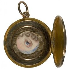 Regency lover's eye portrait 1817 with hairwork