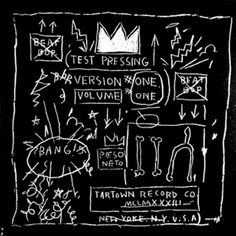 Basquiat piece for Tartown's single Beat Bop via Beat Bop