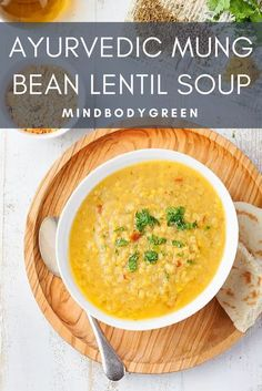 Ayurvedic Soup To Boost Your Metabolism + Calm Inflammation Ayurvedic Soup to Boost Your Metabolism and Calm Inflammation :: Mindbodygreen :: a winter time recipe from AYURVEDA LIFESTYLE WISDOM, the true bible on Ayurvedic living. Ayurvedic Healing, Ayurvedic Diet, Ayurvedic Recipes, Ayurveda Vata, Healthy Recipes, Bean Recipes, Indian Food Recipes, Soup Recipes, Vegetarian Recipes