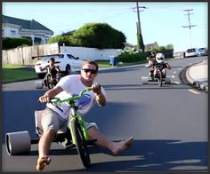 Trike Drifting - This one's going on the bucket list.  Somebody give me my Green Machine trike!