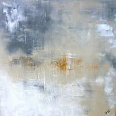 Neutral abstract art with gold.