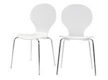 Set di due sedie da tavoloKitsch, bianco
