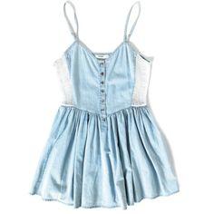 cute denim mini dress