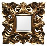 Found it at Wayfair - Goldfinger Square Mirror in Gold