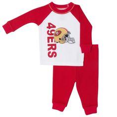 5c0635f23 San Francisco 49ers Toddler 2-Piece Thermal Pajamas - White