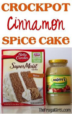 Crockpot Cinnamon Spice Cake Recipe! ~ from TheFrugalGirls.com ~ this is so yummy and couldn't be easier! #slowcooker #cakes