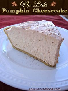 No-Bake Pumpkin Cheesecake- this was SO easy and delicious!