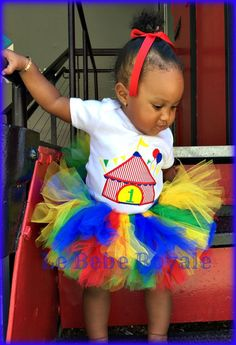 Rainbow Birthday Tutu, Clown Tutu, Clown Skirt, Ringmaster Birthday Party, 1ST Birthday, Circus Tutu, Rainbow Tutu, Skirt, Embroidered Shirt