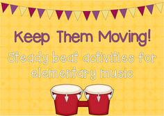 Creative steady beat activities for elementary students. Elementary Music Lessons, Music Lessons For Kids, Music Lesson Plans, Music For Kids, Music Activities For Kids, Children Music, Movement Activities, Kindergarten Music, Preschool Music