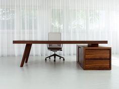 Descarga el catálogo y solicita al fabricante Bridge | escritorio de oficina ejecutivo By morgen interiors, escritorio de oficina ejecutivo con cajones diseño Thomas Tritsch, Colección bridge