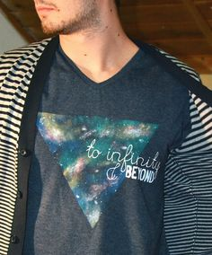 DIY galaxy print t-shirt for all the space enthusiasts out there. Link-->http://mrs-ferguson.blogspot.hu/2013/02/to-infinity-and-beyond.html