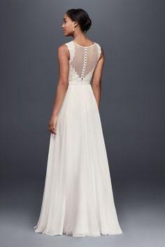 Stunning Scalloped Lace Mermaid Wedding Dress Style NTWG