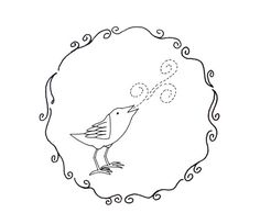 Bird Embroidery Pattern Woodland Animal Digital Downloadable
