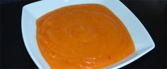 Sweet Potato & Red Pepper Soup - the end result