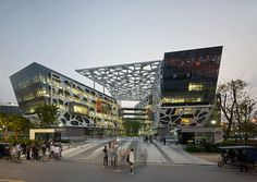 Alibaba Headquarters - Hangzhou, China; designed by Hassell Studio; Alibaba is China's leading e-commerce company and operates the world's largest online marketplaces for both international and domestic China trade; the campus accommodates approximately 9,000 Alibaba employees; photo by Peter Bennetts