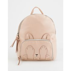 T-Shirt & Jeans Marie Paws Mini Backpack (€22) ❤ liked on Polyvore featuring bags, backpacks, vegan leather backpack, backpack bags, day pack rucksack, pink bag and mini backpacks