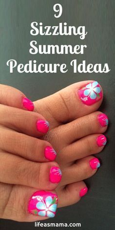 Summer is around the corner and so are sandals. Take a few minutes for yourself and check out these summer pedicure ideas to keep your toes happy! #PedicureIdeas