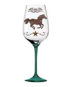 Love this Cowboy Up! Wine Glass on #zulily! #zulilyfinds