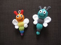 Today I have another pretty little baby rattle for you. A crochet . : Today I have another pretty little baby rattle for you. A crocheted butterfly rattle in green and gray: crocheted butterflies … Baby Knitting Patterns, Crochet Patterns, Newborn Toys, Baby Toys, Knitting Projects, Crochet Projects, Crochet Unicorn Blanket, Diy Bebe, Crochet Butterfly