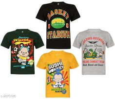 Tshirts & Polos Attractive Cotton Kids Boy's T - Shirt (Pack Of 4)  Fabric: Cotton Sleeves: Sleeves Are Included Size: (Refer Size Chart) Age Group (2 - 3 Years) Age Group (4 - 5 Years)  Age Group (6 - 7 Years)  Age Group (8 - 9 Years)  Age Group (10 - 11 Years)  Type: Stitched Description: It Has 4 Pieces Of Boy's T - Shirt Work: Printed Country of Origin: India Sizes Available: 2-3 Years, 4-5 Years, 6-7 Years, 8-9 Years, 10-11 Years   Catalog Rating: ★4.1 (276)  Catalog Name: Free Mask Classic Attractive Cotton Kids Boy's T - Shirt Combo Vol 4 CatalogID_389951 C59-SC1173 Code: 336-2870126-7071