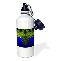 3dRose DYLAN SEIBOLD - PHOTO ABSTRACTION - TREE BEARD FACE - 21 oz Sports Water #Bottle #gifts Link: