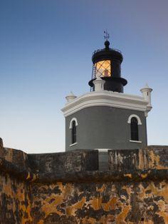 Puerto Rico, San Juan, San Felipe Del Morro Fort, El Morro, Fortress Walls and Lighthouse Paint it