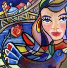 """Saatchi Art Artist Sandra Viviana Rossi; Painting, """"Nuevos tiempos de sueños."""" #art"""