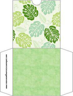 Folhas - Kit Completo com molduras para convites, rótulos para guloseimas…