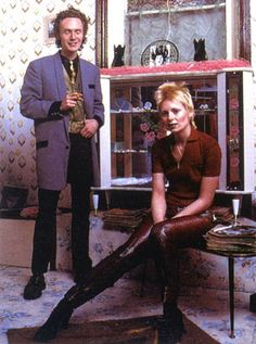 Malcolm McLaren and Vivienne Westwood. Top innovators of their time. Known for bringing punk and new styles of fashion into the world of the mainstream. They together created a store that sheltered her creations and he later became the manager of the Sex Pistols.