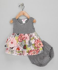 Black Stripe Elly Tunic & Bloomers from Jupón on #zulily!