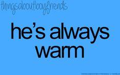 Personal heaters! Lol!!!