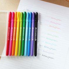 10pcs Rainbow Pen Set