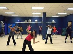 My favorite Zumba song! The dance doesn't look hard, though I like Jill's version better because there's a slide involved in the chorus. Haha!
